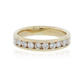 14K Yellow Gold and 0.50ctw Diamond Band Ring Size 5.5