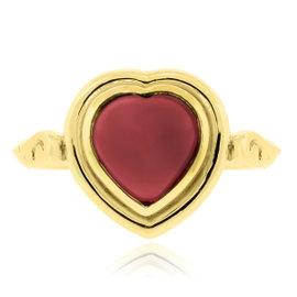 Temple St. Clair 18K Gold Rhodolite Garnet Heart Ring