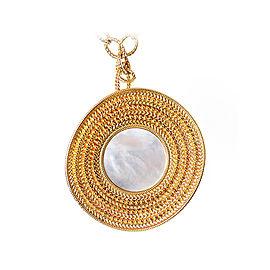 Carrera y Carrera Ruedo 18K Yellow Gold & Mother of Pearl Maxi Pendant Necklace