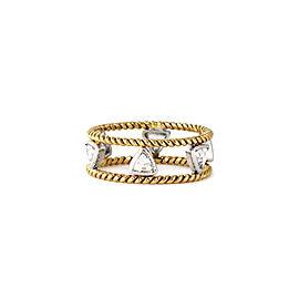 18k Yellow Gold Trillion Rosecut Diamond Band