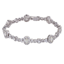 18K White Gold with 4.66ct Diamond Bracelet