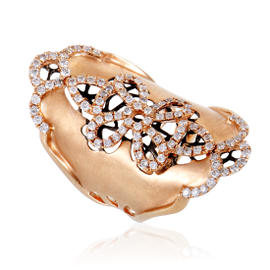 18K Rose Gold and 1.27ct Diamond Band Ring Size 6.75