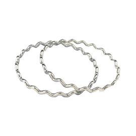 Tiffany & Co. Paloma Picasso Sterling Silver Zig Zag Wave Bangles Bracelets