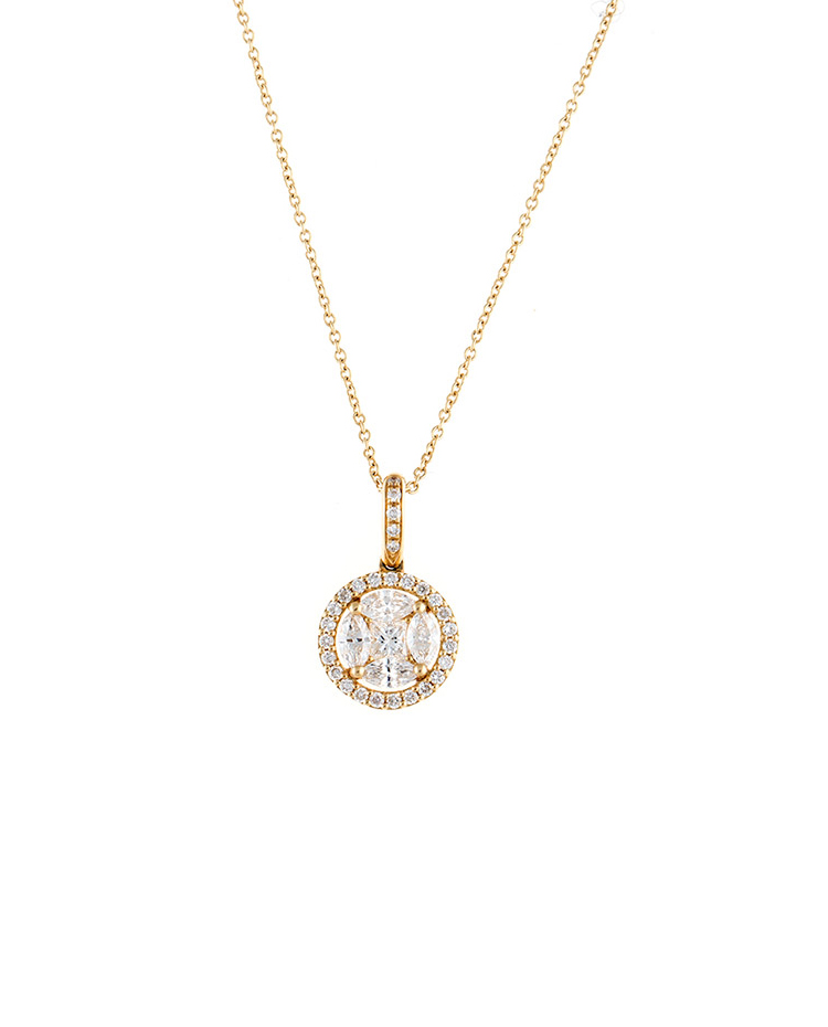 "Image of ""Mosaic Collection 18K Yellow Gold Diamonds Necklace"""