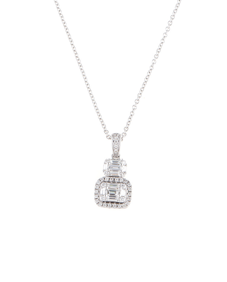 "Image of ""Mosaic Collection 18K White Gold Diamonds Necklace"""