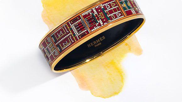 Enamel Bangles, H Bracelets & More