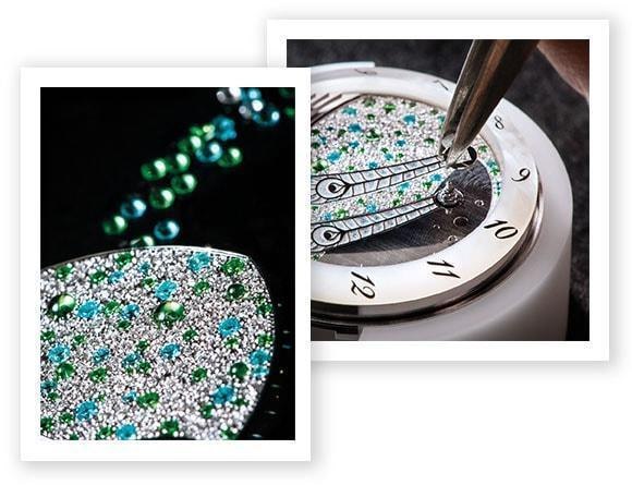 The Diamond Dial and Peacock Feathers