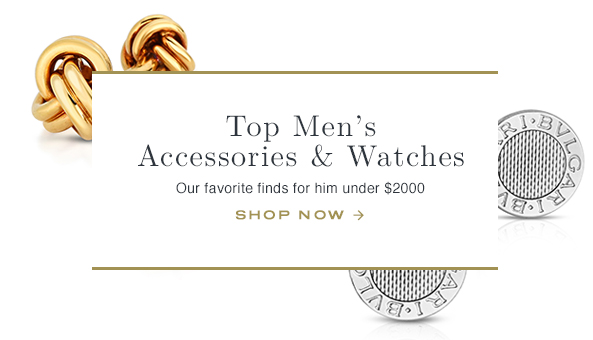 TOP MEN'S ACCESSORIES AND WATCHES